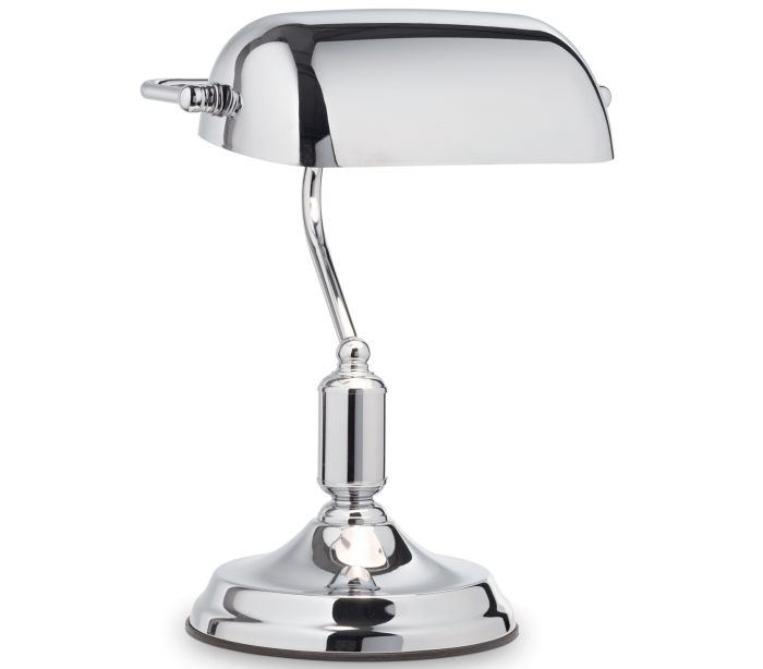 Image of LAWYER Bordlampe i metal H38 cm 1 x E27 - Krom