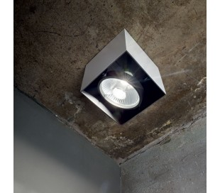 MOOD Påbygningsspot i metal 15 x 15 cm 1 x GU10 - Hvid/Sort