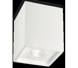 OAK Påbygningsspot i gips Ø13,5 cm 1 x GU10 - Hvid
