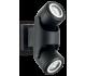 XENO Væglampe i aluminium H24 cm 2 x GU10 - Sort