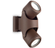 XENO Væglampe i aluminium H24 cm 2 x GU10 - Brun