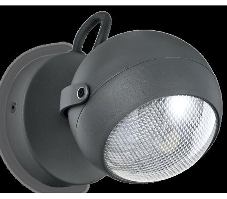 ZENITH Væglampe i aluminium Ø12 cm 1 x GU10 - Antracit