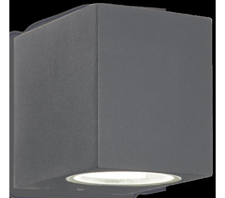 UP Væglampe i aluminium H8 cm 1 x G9 - Antracit