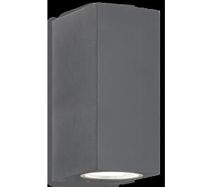UP Dobbelt Væglampe i aluminium H15 cm 2 x G9 - Antracit