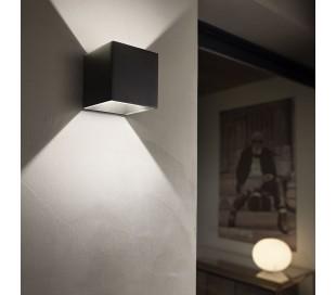RUBIK Dobbelt Væglampe i aluminium H10 cm 6W LED - Sort