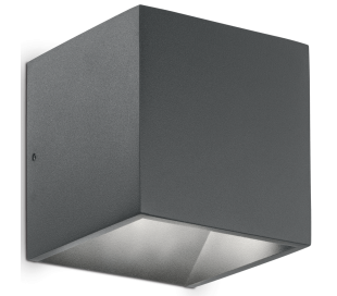 RUBIK Dobbelt Væglampe i aluminium H10 cm 6W LED - Antracit