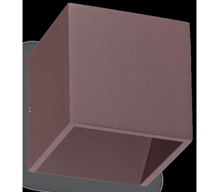 faro barcelona – Rubik dobbelt væglampe i aluminium h10 cm 6w led - brun på lepong.dk