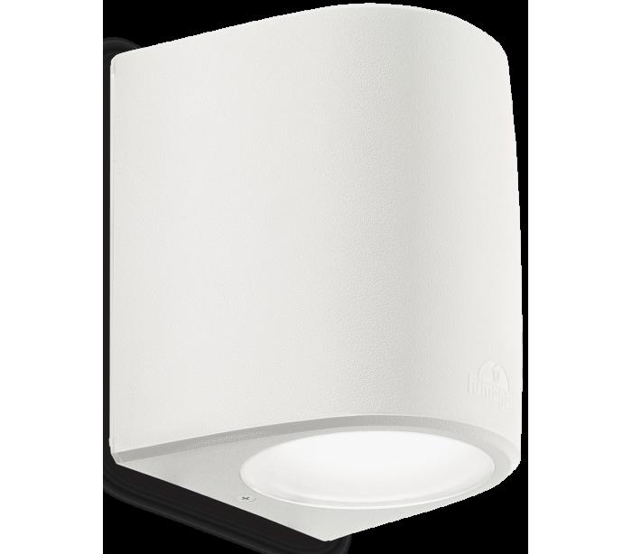 KEOPE Væglampe i aluminium H18,5 cm 1 x E27 - Hvid