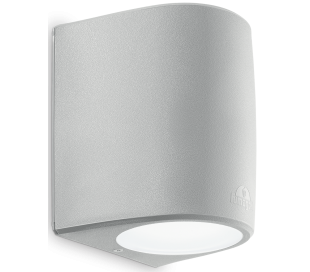 KEOPE Væglampe i aluminium H18,5 cm 1 x E27 - Grå