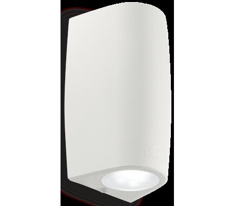 KEOPE Væglampe i aluminium H16,5 cm 2 x GU10 - Hvid