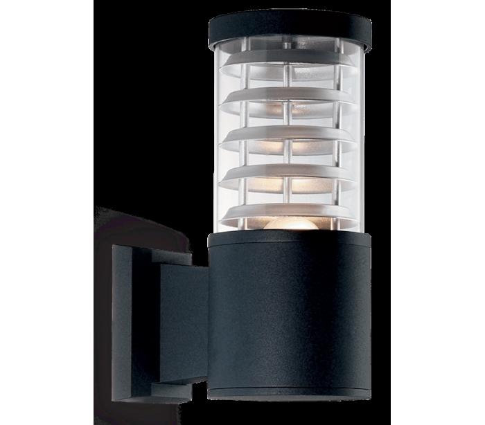 jesper home – Tronco væglampe i aluminium h25 cm 1 x e27 - sort fra lepong.dk