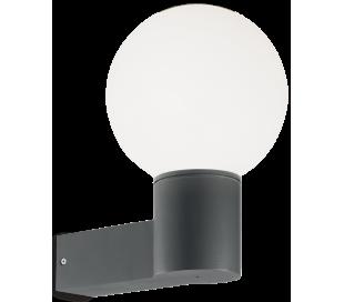 CLIO Væglampe i aluminium og kunststof H28,5 cm 1 x E27 - Antracit