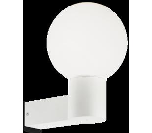 CLIO Væglampe i aluminium og kunststof H28,5 cm 1 x E27 - Hvid
