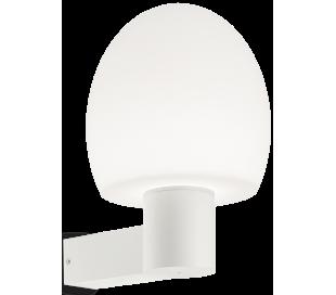 CONCERTO Væglampe i aluminium og kunststof H33 cm 1 x E27 - Hvid
