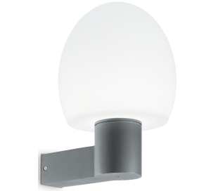 CONCERTO Væglampe i aluminium og kunststof H33 cm 1 x E27 - Grå