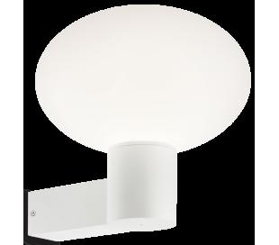 ARMONY Væglampe i aluminium og kunststof H27,5 cm 1 x E27 - Hvid