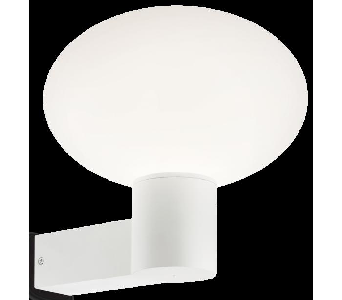 Image of   ARMONY Væglampe i aluminium og kunststof H27,5 cm 1 x E27 - Hvid