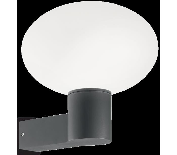 Image of   ARMONY Væglampe i aluminium og kunststof H27,5 cm 1 x E27 - Antracit
