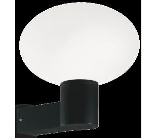 ARMONY Væglampe i aluminium og kunststof H27,5 cm 1 x E27 - Sort