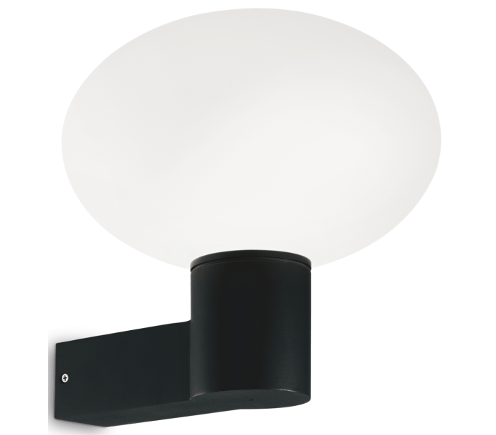 Image of   ARMONY Væglampe i aluminium og kunststof H27,5 cm 1 x E27 - Sort
