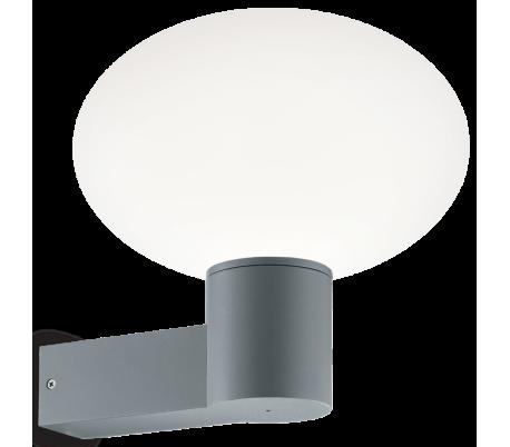 ARMONY Væglampe i aluminium og kunststof H27,5 cm 1 x E27 - Grå