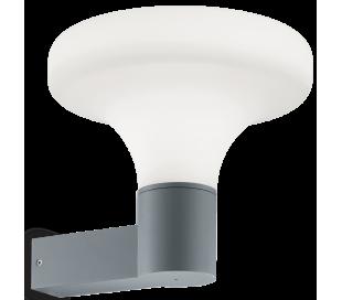SOUND Væglampe i aluminium og kunststof H29,5 cm 1 x E27 - Grå