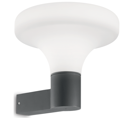 SOUND Væglampe i aluminium og kunststof H29,5 cm 1 x E27 - Antracit