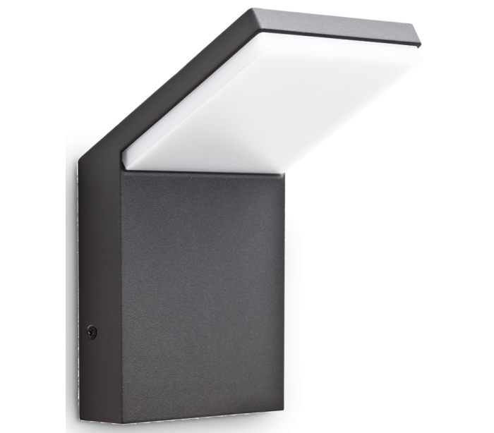 STYLE Væglampe i aluminium og kunststof H17 cm 1 x 9W LED – Antracit fra Ideal Lux – Fumagalli
