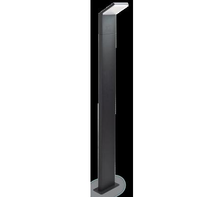 STYLE Bedlampe i aluminium og kunststof H100 cm 1 x 9W LED - Antracit