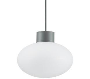 ARMONY Loftlampe i aluminium og kunststof Ø28 cm 1 x E27 - Antracit