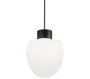 CONCERTO Loftlampe i aluminium og kunststof Ø23 cm 1 x E27 - Sort
