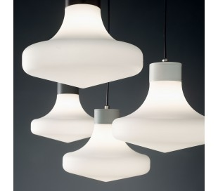 SOUND Loftlampe i aluminium og kunststof Ø30 cm 1 x E27 - Hvid