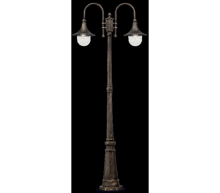 Image of   CIMA Bedlampe i aluminium og akryl H216 cm 2 x E27 - Antik sort/Antik guld