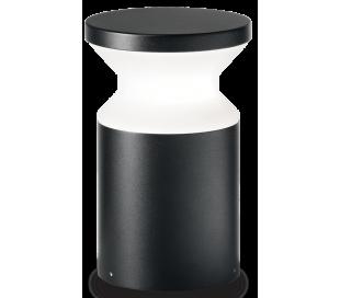 TORRE Bedlampe i aluminium og plast H22 cm 1 x E27 - Sort/Hvid