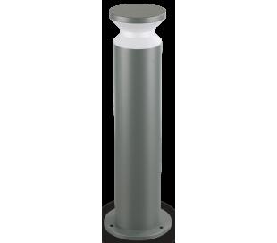 TORRE Bedlampe i aluminium og plast H60 cm 1 x E27 - Antracit/Hvid