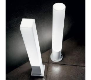 EDO Bedlampe i aluminium og polycarbonat Rund H80 cm 1 x GX53 - Hvid/Hvid