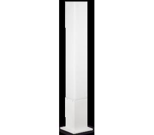 EDO Bedlampe i aluminium og polycarbonat Firkantet H79 cm 1 x GX53 - Hvid/Hvid