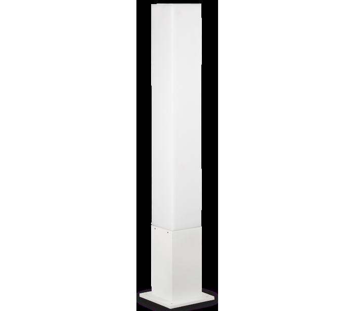 Image of   EDO Bedlampe i aluminium og polycarbonat Firkantet H79 cm 1 x GX53 - Hvid/Hvid