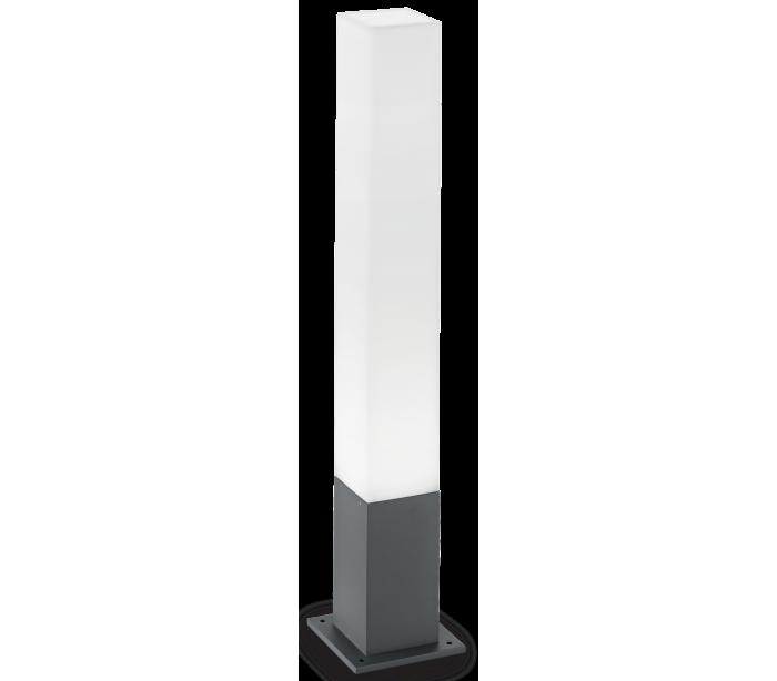 Image of   EDO Bedlampe i aluminium og polycarbonat Firkantet H79 cm 1 x GX53 - Antracit/Hvid