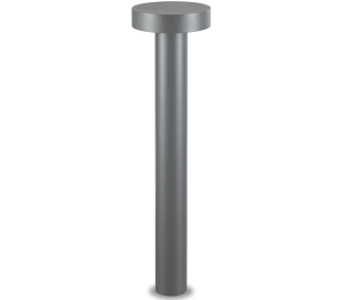 TESLA Bedlampe i aluminium og plast H80 cm 4 x G9 - Antracit/Hvid