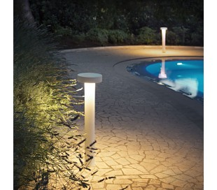 TESLA Bedlampe i aluminium og plast H80 cm 4 x G9 - Hvid/Hvid