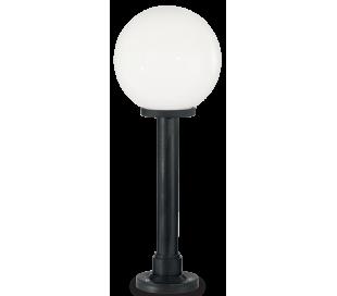 CLASSIC GLOBE Bedlampe i resin og plast H82 cm 1 x E27 - Sort/Hvid