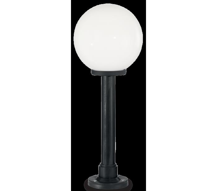 Image of   CLASSIC GLOBE Bedlampe i resin og plast H82 cm 1 x E27 - Sort/Hvid