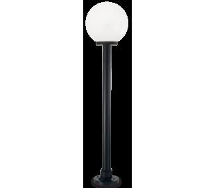 CLASSIC GLOBE Bedlampe i resin og plast H130 cm 1 x E27 - Sort/Hvid