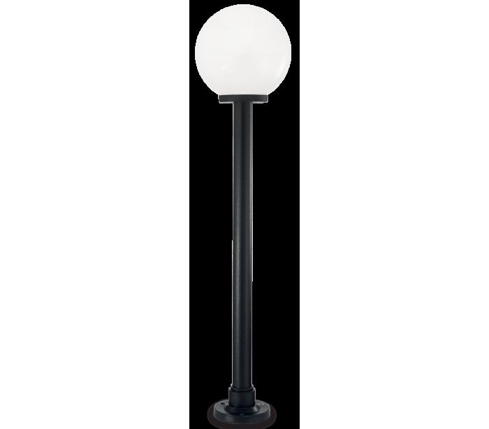 Image of   CLASSIC GLOBE Bedlampe i resin og plast H130 cm 1 x E27 - Sort/Hvid