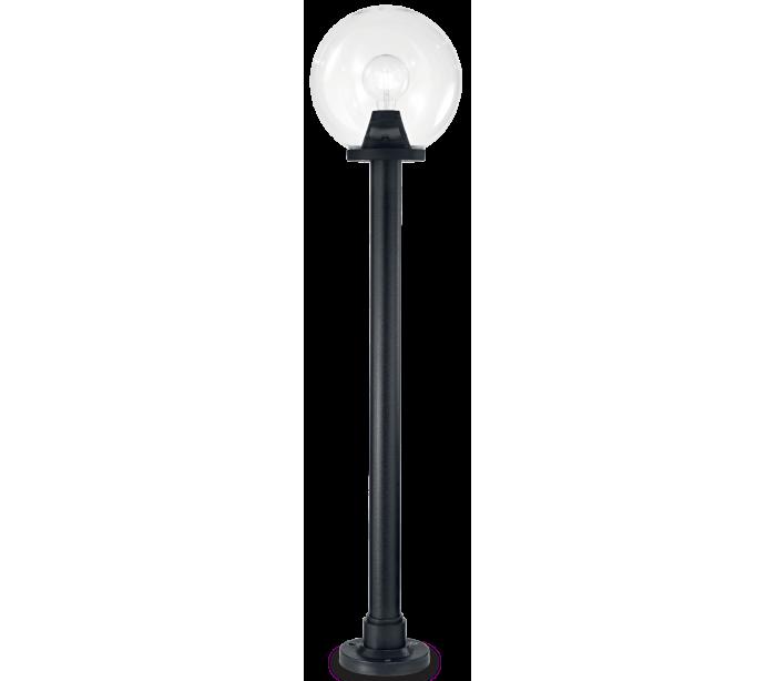 Image of   CLASSIC GLOBE Bedlampe i resin og plast H130 cm 1 x E27 - Sort/Klar