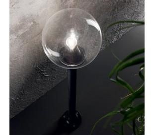 CLASSIC GLOBE Bedlampe i resin og plast H130 cm 1 x E27 - Sort/Klar