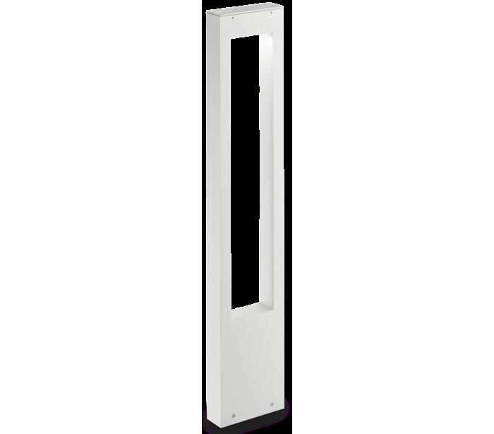 VEGA Bedlampe i aluminium og glas H80 cm 1 x G9 – Hvid/Klar fra Ideal Lux – Fumagalli