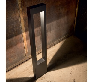 VEGA Bedlampe i aluminium og glas H80 cm 1 x G9 - Sort/Klar