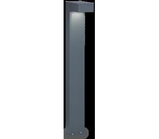 SIRIO Bedlampe i aluminium og glas H80 cm 2 x G9 - Antracit/Klar